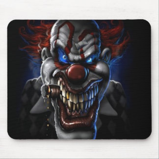Evil Clown And Cigar Mouse Pad
