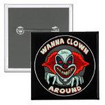 Evil Clown Biker T shirts Gifts Pin