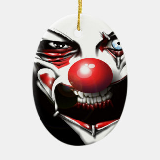 Evil Clown Ceramic Ornament