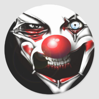 Evil Clown Classic Round Sticker