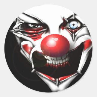 Evil Clown Classic Round Sticker