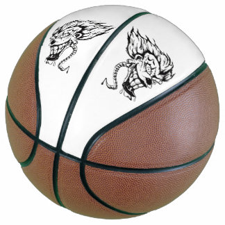 Evil clown Custom Fullsize Basketball