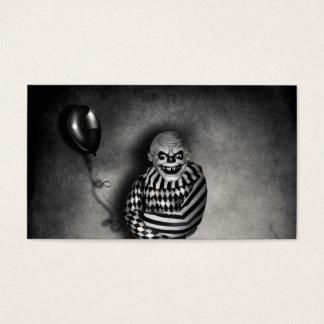Evil Clown Customizable  Halloween Business Cards
