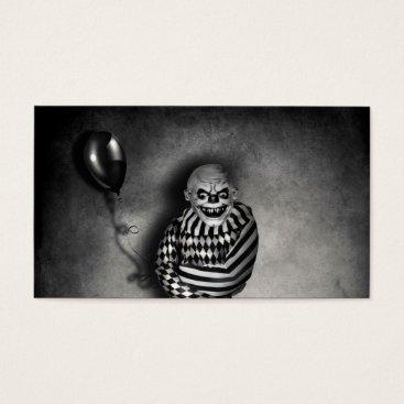 Professional Business Evil Clown Customizable  Halloween Business Cards
