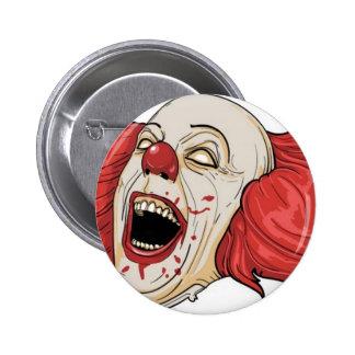 Evil clown design pinback button