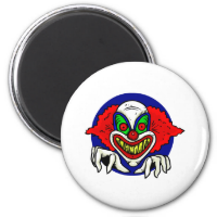 Evil Clown Face 2 Inch Round Magnet
