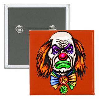 Evil Clown Face 2 Inch Square Button