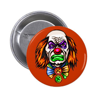 Evil Clown Face 2 Inch Round Button