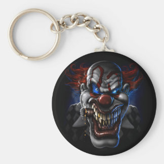 Evil Clown Face Keychain