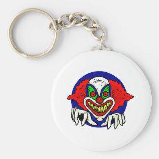 Evil Clown Face Key Chains