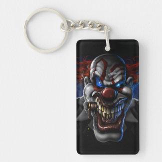 Evil Clown Face Rectangular Acrylic Keychains