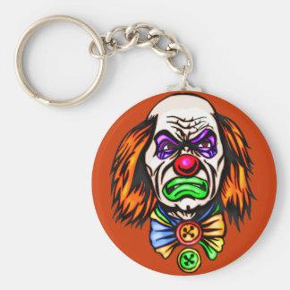 Evil Clown Face Keychain