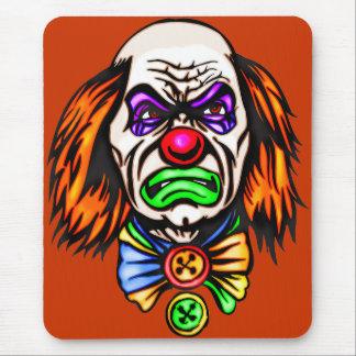 Evil Clown Face Mouse Pad