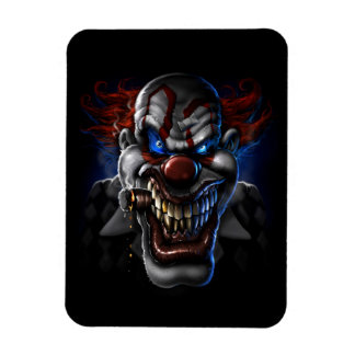 Evil Clown Face Rectangular Magnets