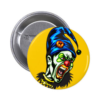 Evil Clown From Hell 2 Inch Round Button