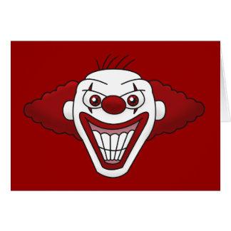 Evil Clown Greeting Card