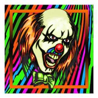 Evil Clown Halloween Party Invitation