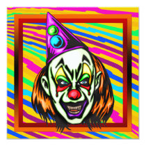 Evil Clown Halloween Party Invitation