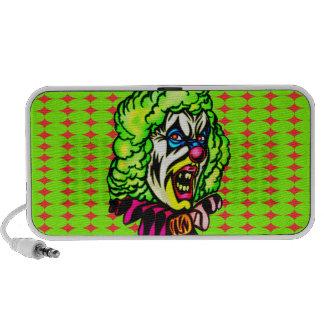 Evil Clown In Curled Wig Notebook Speakers