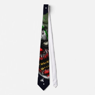 evil clown neck tie