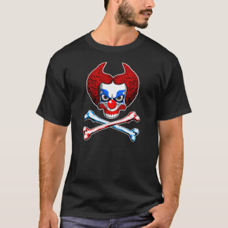 Evil Clown Skull and Crossbones T-Shirt
