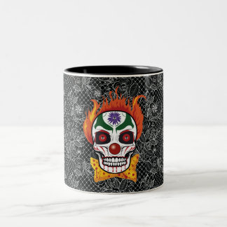Evil Clown Skull Demon Coffee Mug Gift Idea