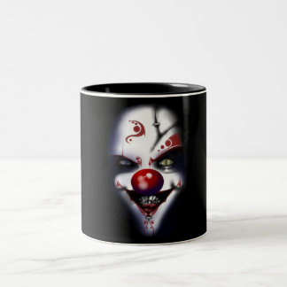 Evil Clown Two-Tone Coffee Mug