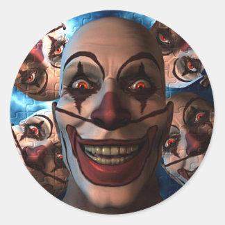 Evil Clowns Classic Round Sticker