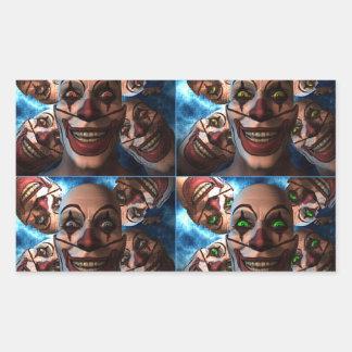 Evil Clowns Rectangular Sticker