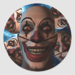 Evil Clowns - Trick or Treat! Classic Round Sticker