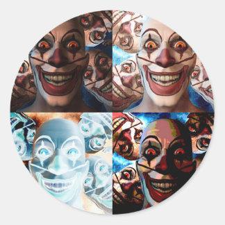 Evil Clowns Trick or Treat? Classic Round Sticker