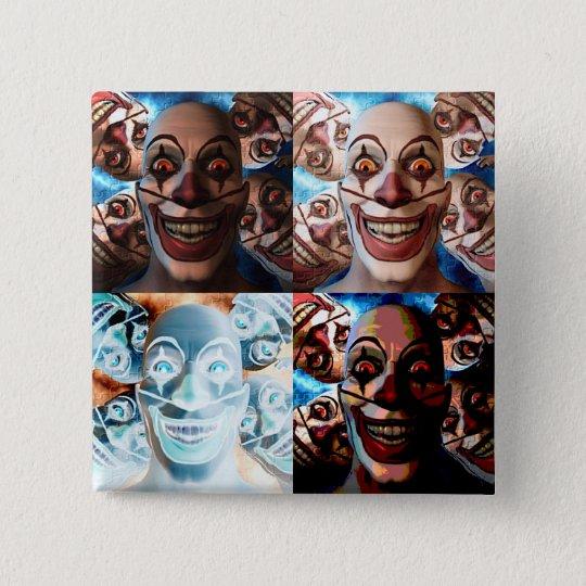 Evil Clowns Trick or Treat? Pinback Button