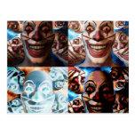 Evil Clowns Trick or Treat? Postcard