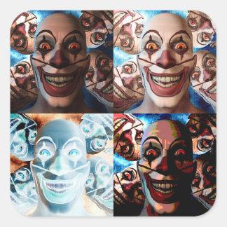 Evil Clowns Trick or Treat? Square Sticker