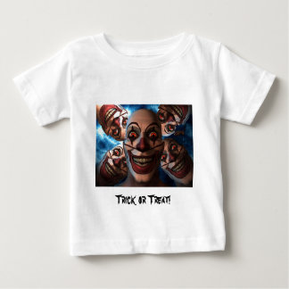Evil Clowns with Bulging Eyes Baby T-Shirt