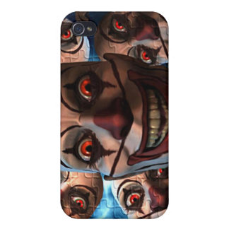 Evil Clowns with Bulging Eyes iPhone 4/4S Cases