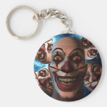 Evil Clowns with Bulging Eyes Keychains