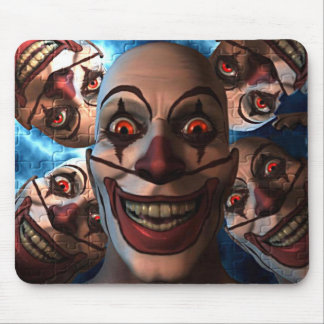 Evil Clowns with Bulging Eyes Mouse Pad