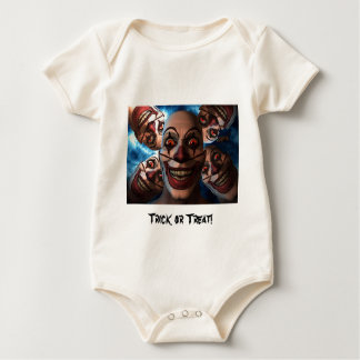 Evil Clowns with Bulging Eyes Rompers