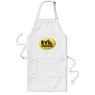 Evil Crayon Logo Long Apron