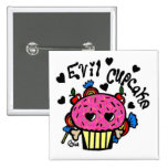 evil cupcake buttons
