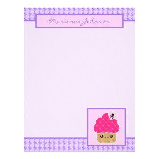 Evil Cute Cupcake Kawaii Stationery Large Letterhead