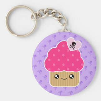 Evil Cute Cupcake Of Death Kawaii Keychain