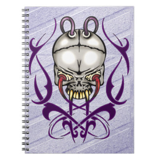 Evil Cyborg Skull Notebook