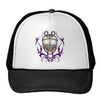 Evil Cyborg Skull Trucker Hat