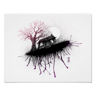 Evil Dead Cabin by Lutz A.D. Poster