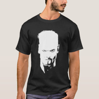 Evil Death Glare Black and White T-Shirt