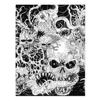 Evil Death Spawn Illustration Postcard