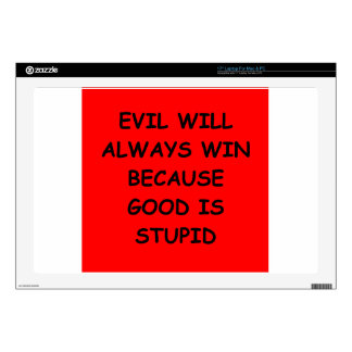 evil decals for laptops