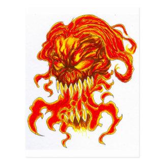 Evil Demon Art Postcard